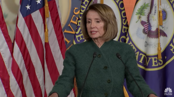 Nancy Pelosi may oppose President if he declares national emergency.